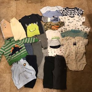 Boys late summer, Fall or spring lot 3-6 mo